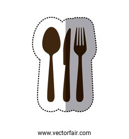 brown cutlery tools icon