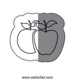 silhouette differents apples icon