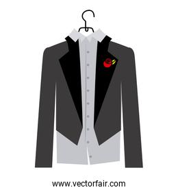 colorful silhouette cartoon costume groom