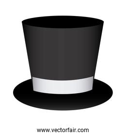 colorful silhouette costume with hat groom