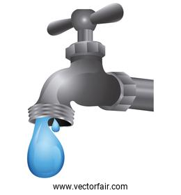 faucet with water drop icon