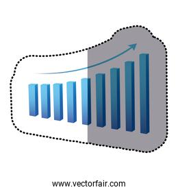 blue statistic graph business data