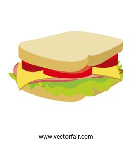 colorful silhouette with big sandwich