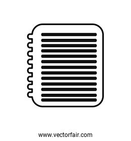 notebook with paper writing icon