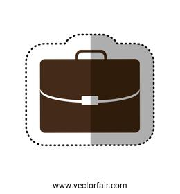 brown business suitcase icon image