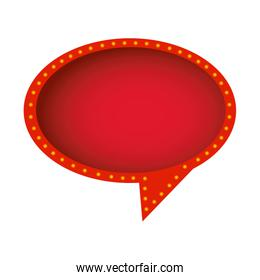 red round chat bubble icon