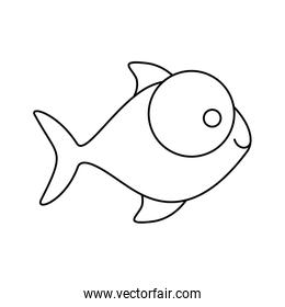 figure fish with big eyes icon