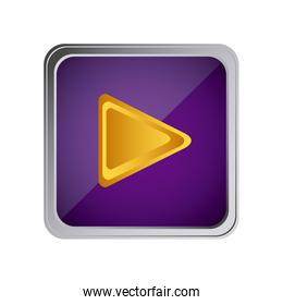 play button icon with background purple