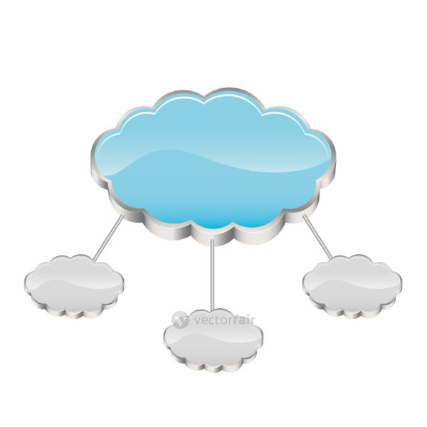 cloud storage connected with several server