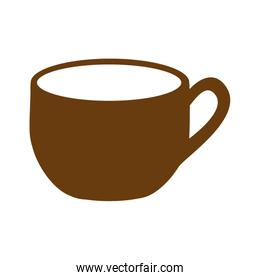 brown silhouette cup with handle