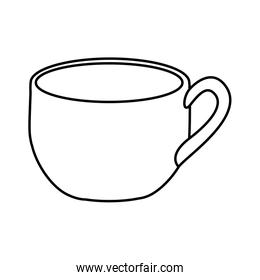 silhouette cup with handle icon