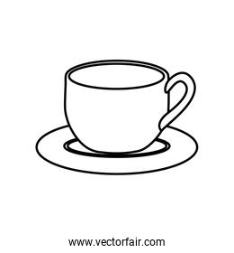 silhouette dish porcelain with cup