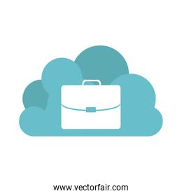 global cloud online business icon