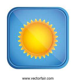 beautiful sunny day button icon