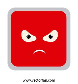 square colorful shape emoticon angry expression