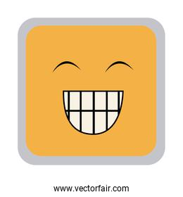 square colorful shape emoticon face happines expression
