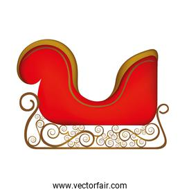 colorful silhouette of sleigh of santa claus
