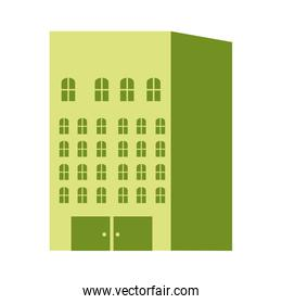 silhouette color with residential building