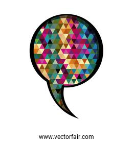 colorful circular speech with abstract background