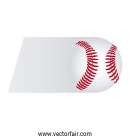 colorful background of fast moving baseball ball