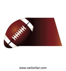 colorful background of fast moving football ball
