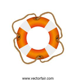 colorful flotation hoop with cord