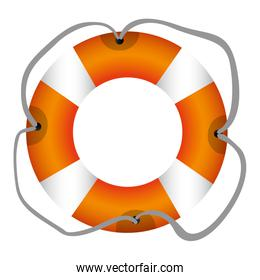 colorful flotation hoop with tether