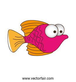 color silhouette of small fish with big eyes