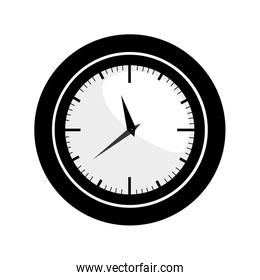 black silhouette with wall clock