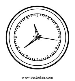 monochrome contour with wall clock