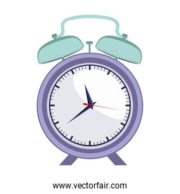 colorful silhouette with purple alarm clock with shadow