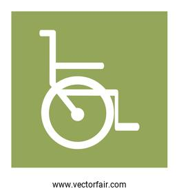 color square frame with wheelchair icon