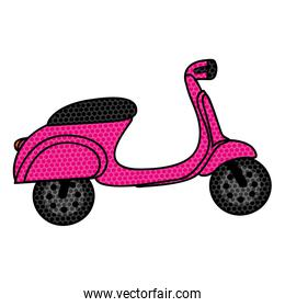 colorful background of magenta scooter