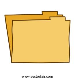 light colored hand drawn silhouette of folder