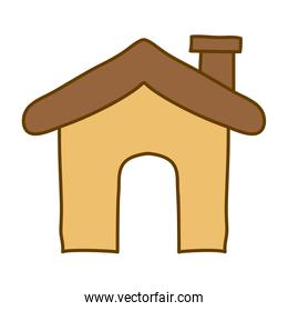 light colored hand drawn silhouette of house icon