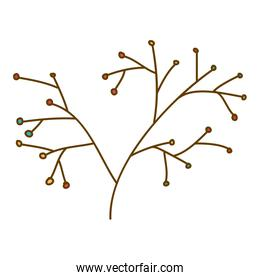 light colored hand drawn silhouette of stem with seeds