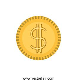 white background with money coin icon