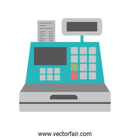 color silhouette with cash register