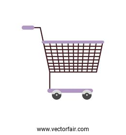 silhouette color with shopping cart purple