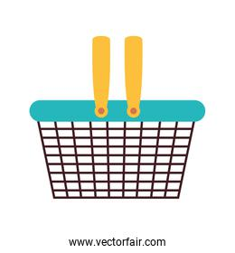silhouette color with metallic shopping basket