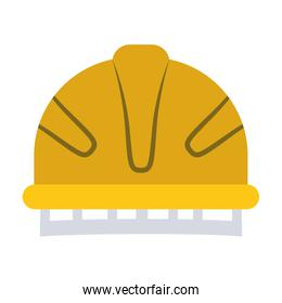 colorful silhouette with yellow helmet of firefighter