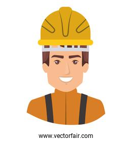 colorful portrait of half body firefighter