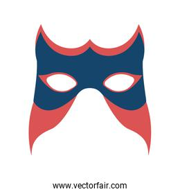 colorful silhouette of festival mask