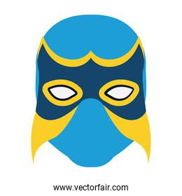 colorful silhouette with wrestler mask