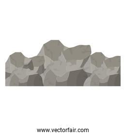 color background with big rock mountain
