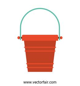 color silhouette of toy bucket beach kit