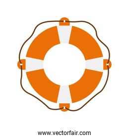 color silhouette of flotation hoop with rope