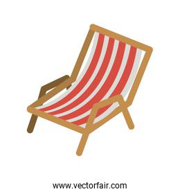 color silhouette of beach chair