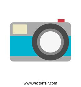 color silhouette with photo camera in closeup