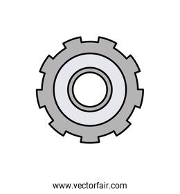 colorful silhouette of gear of wheel